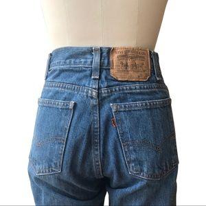 True vintage orange tab Levi's jeans